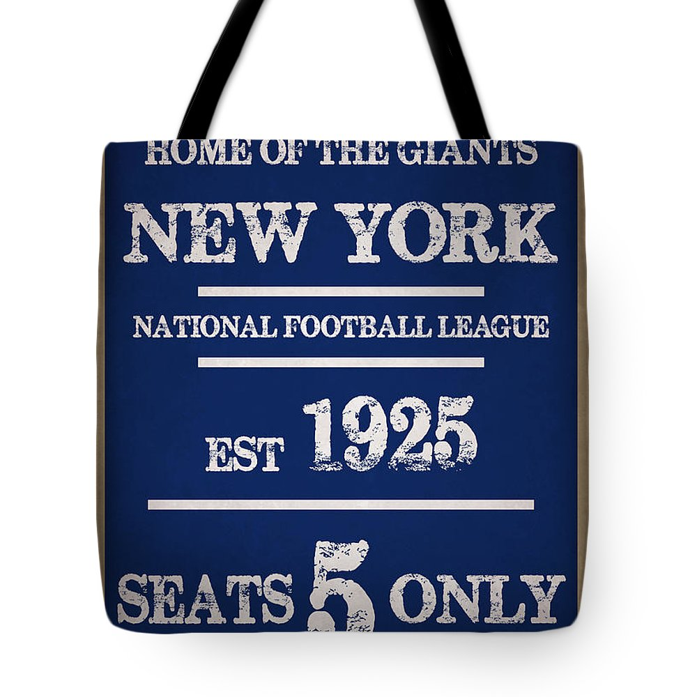 Giants Tote Bag featuring the photograph New York Giants by Joe Hamilton