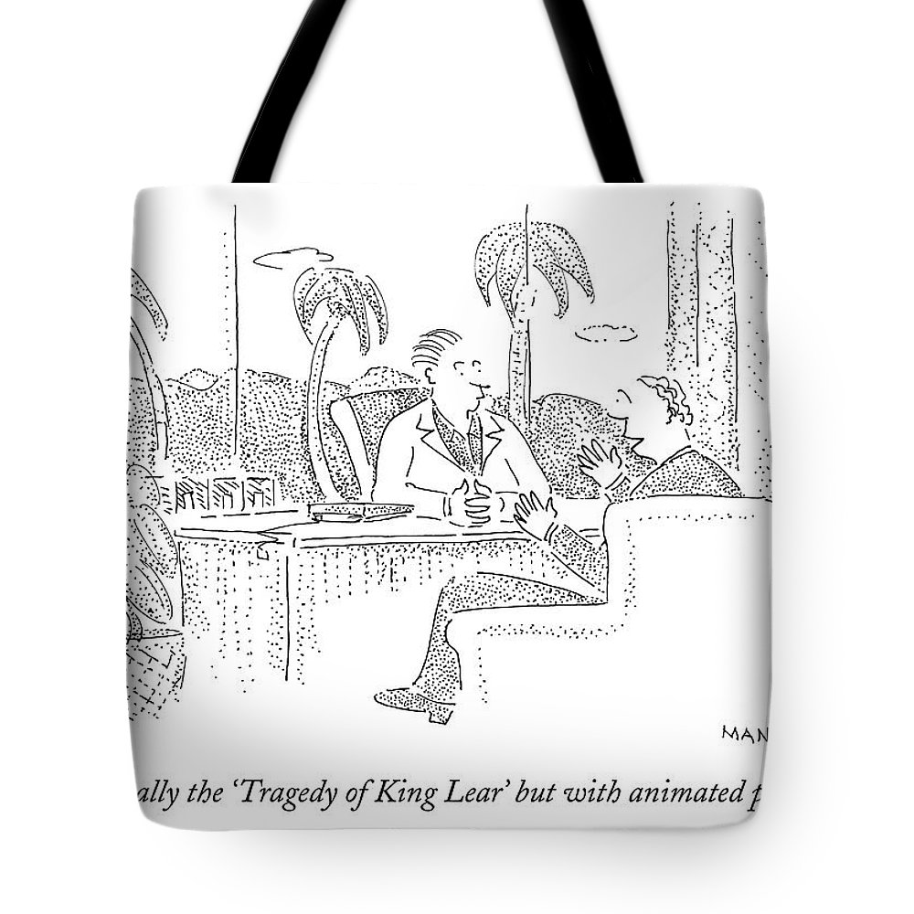 Movie Tote Bag featuring the drawing It's Basically The 'tragedy Of King Lear' But by Robert Mankoff