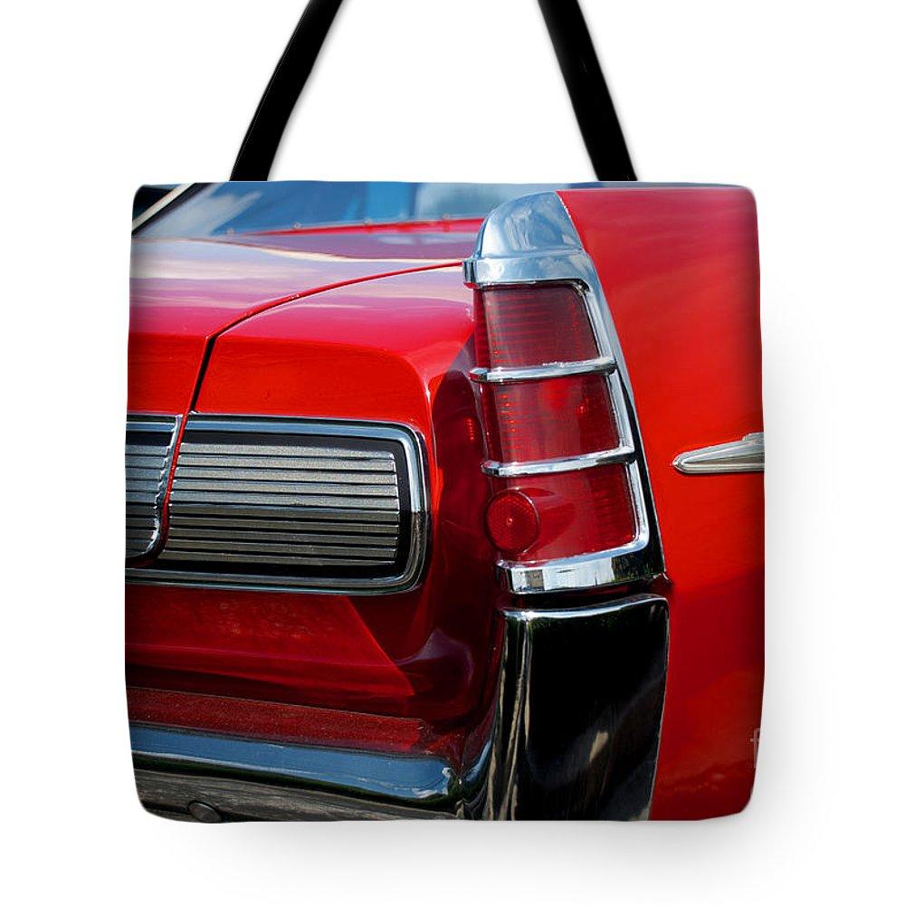 Bonneville Tote Bag featuring the photograph 63 Pontiac Bonneville by Mark Dodd