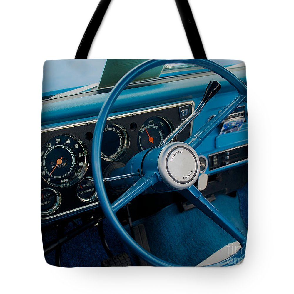 Car Tote Bag featuring the photograph 68 Chevy Truck Dash by Mark Dodd