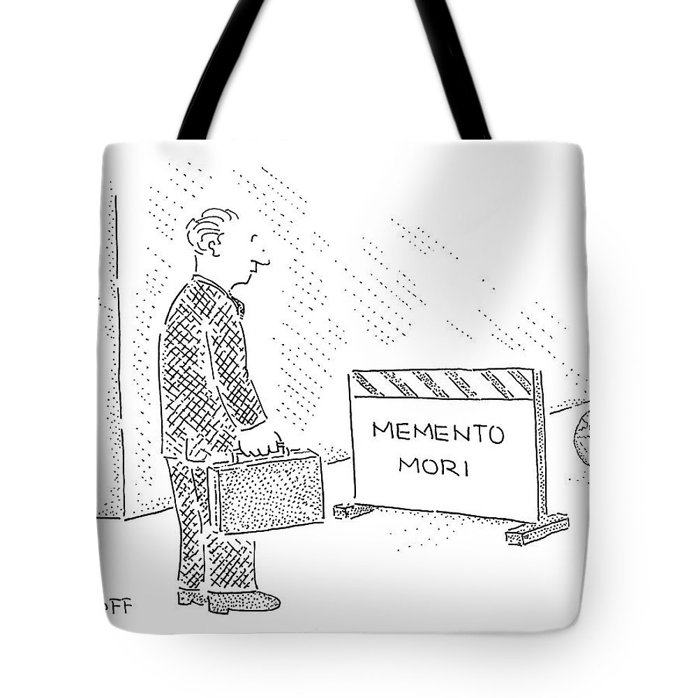 Latin Tote Bag featuring the drawing New Yorker July 31st, 2006 by Robert Mankoff