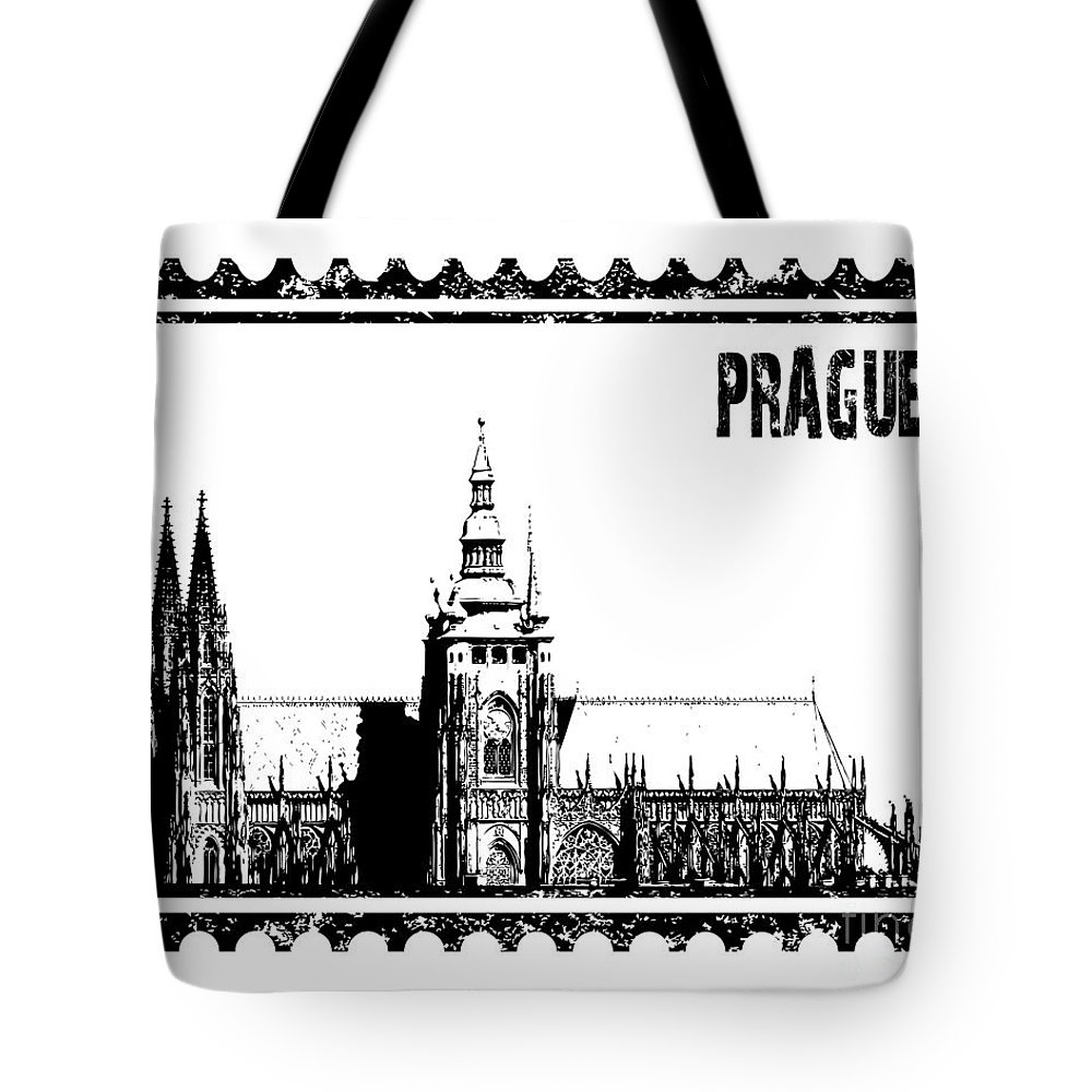 Vector Tote Bag featuring the photograph Cathedral Of St Vitus by Michal Boubin