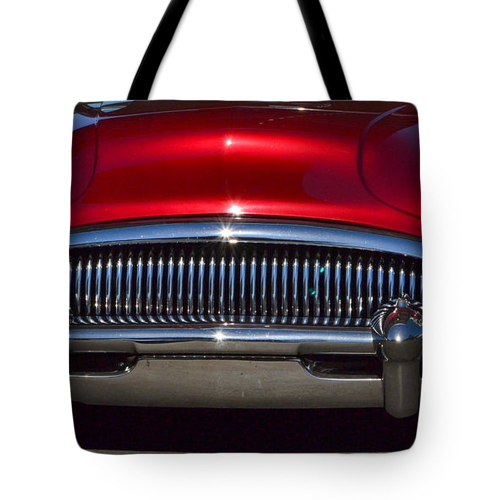 Red Tote Bag featuring the photograph Half Moon Bay Hs Show by Dean Ferreira