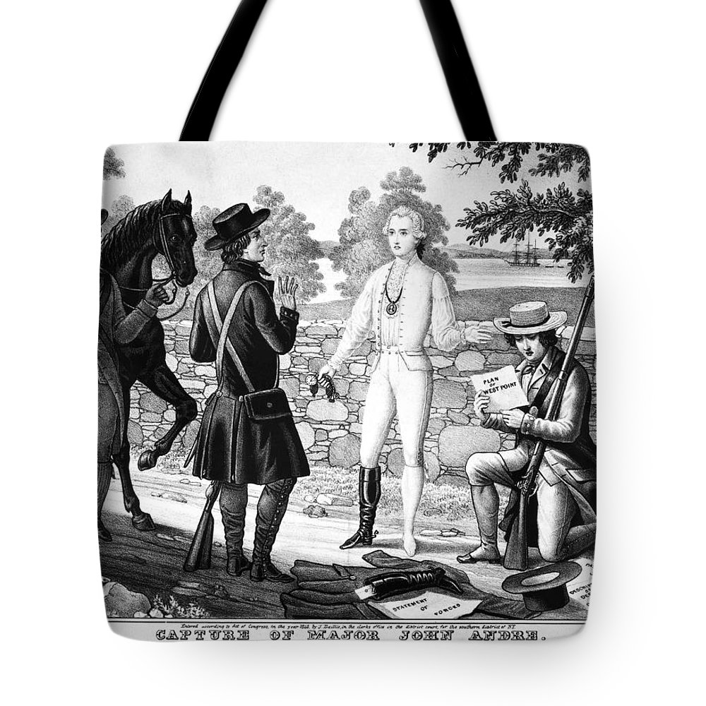 1780 Tote Bag featuring the photograph John Andre (1751-1780) by Granger
