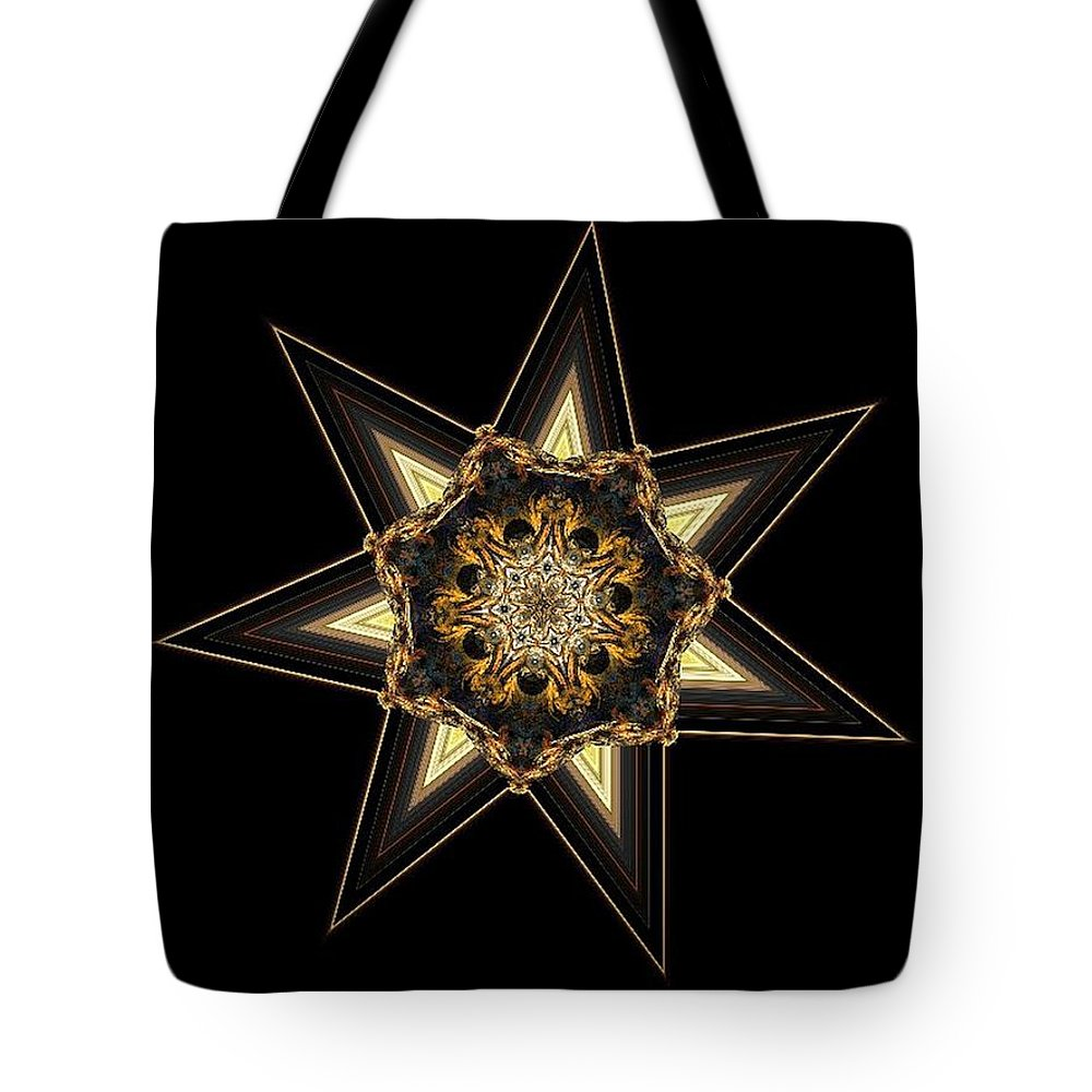 7 Point Star Tote Bag featuring the digital art 7 Point Star by Maria Urso