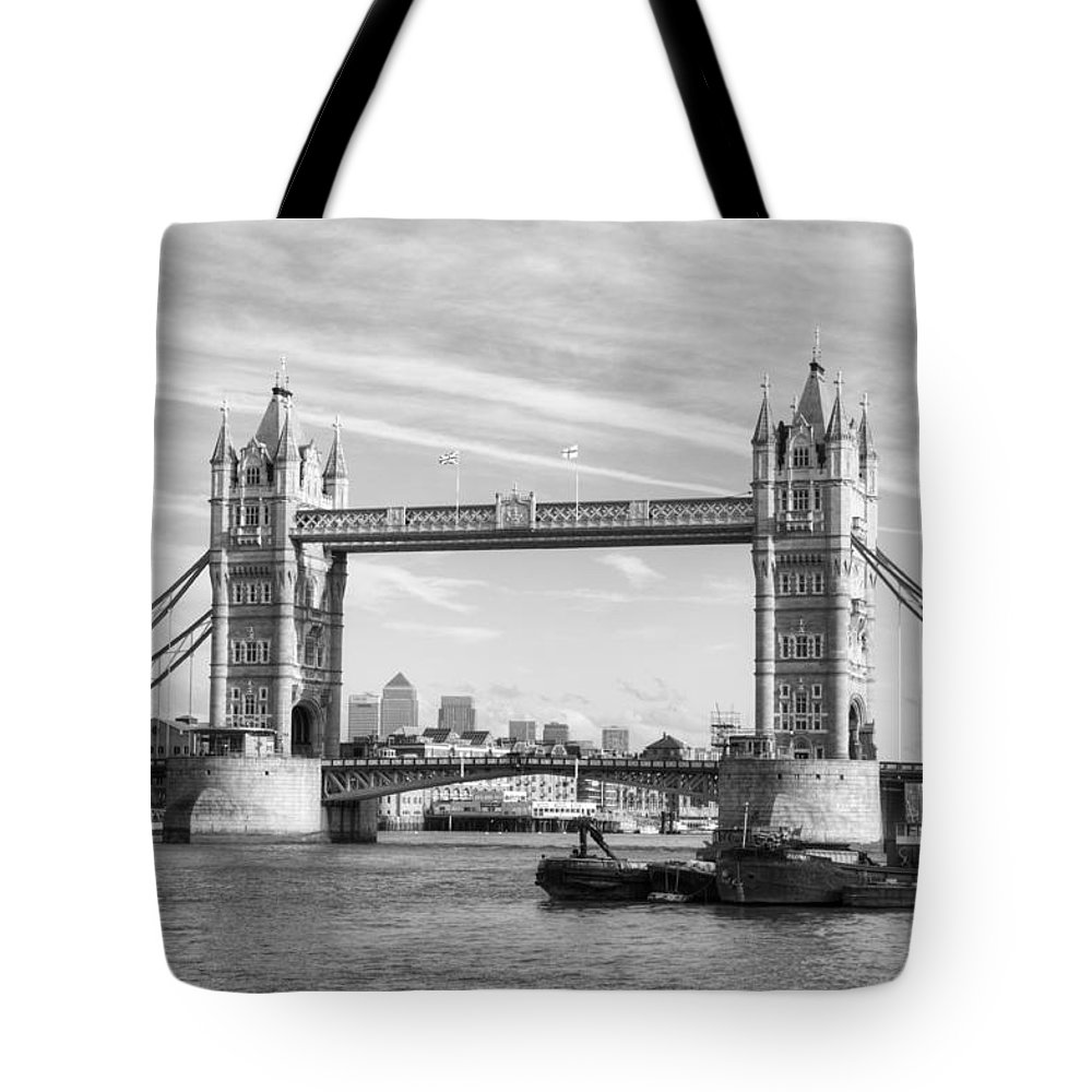 Tower Bridge Tote Bag featuring the photograph Tower Bridge by Chris Day