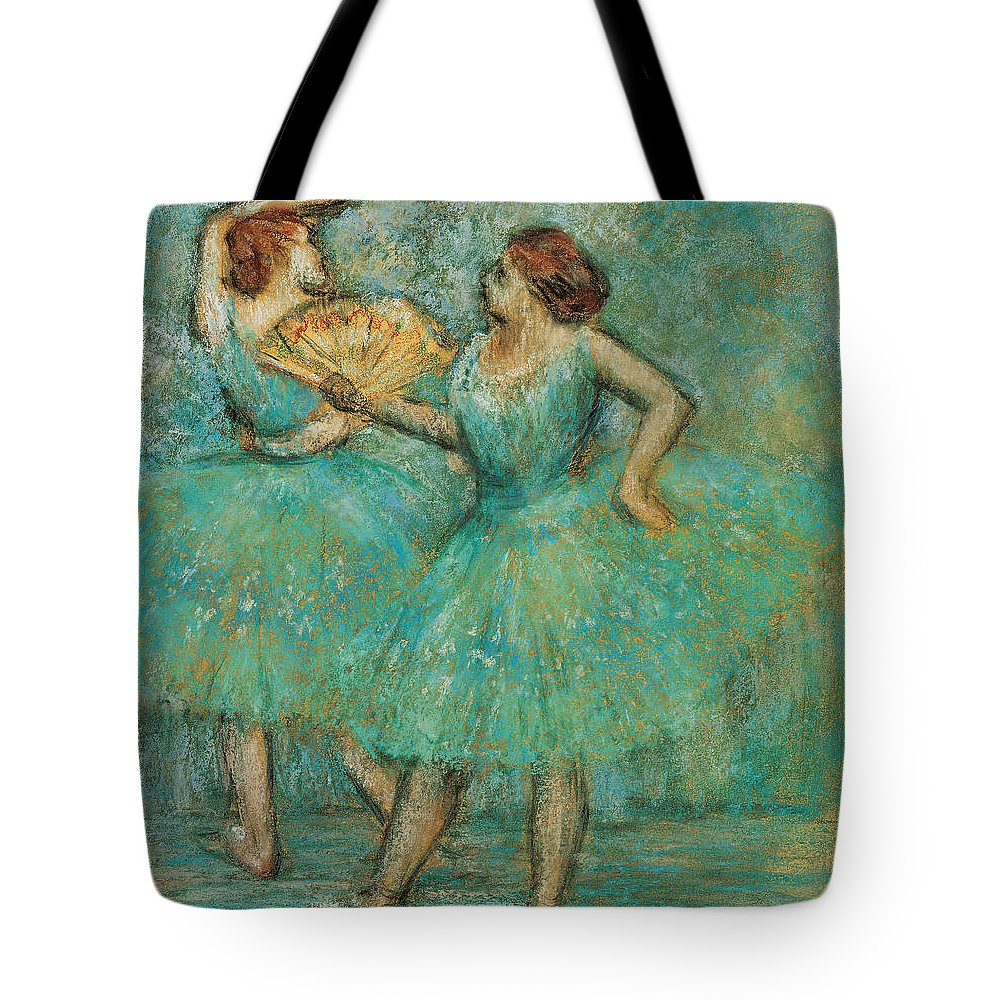 Edgar Degas Tote Bag featuring the painting Two Dancers by Edgar Degas