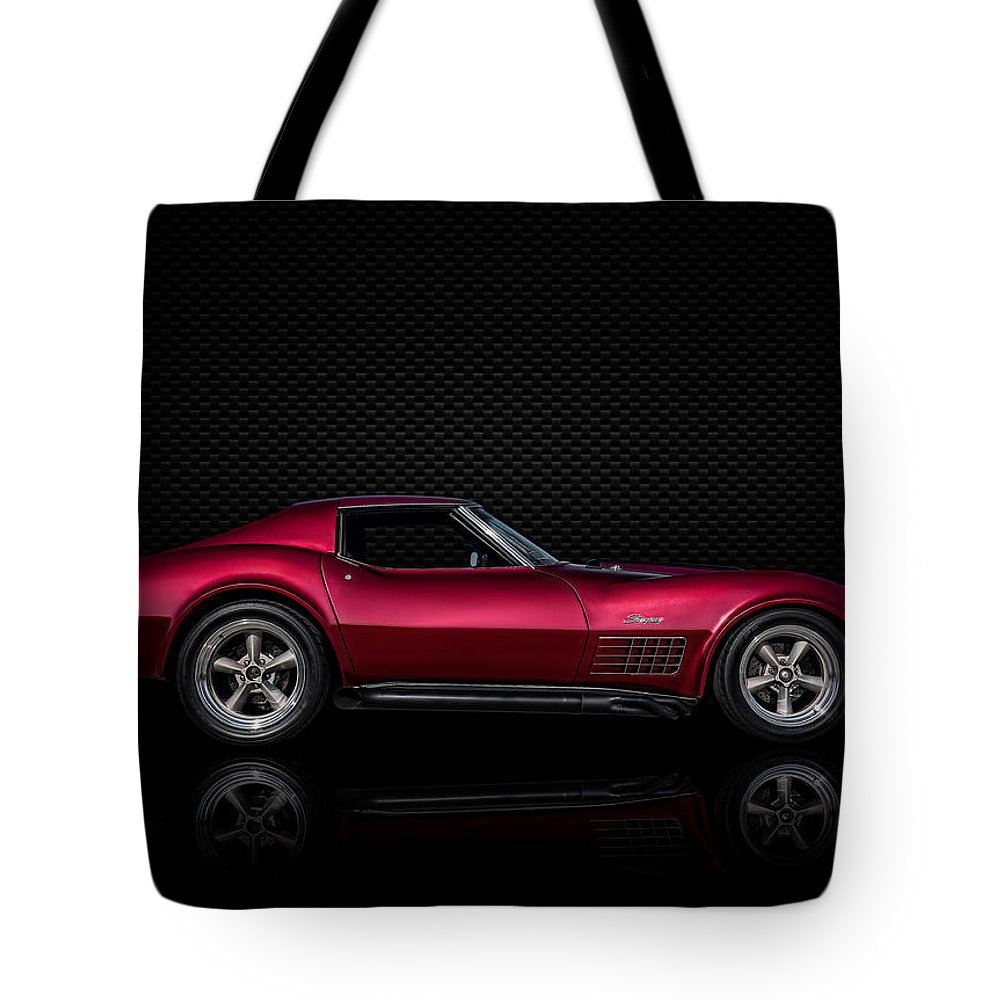 Classic Tote Bag featuring the digital art '71 Red by Douglas Pittman