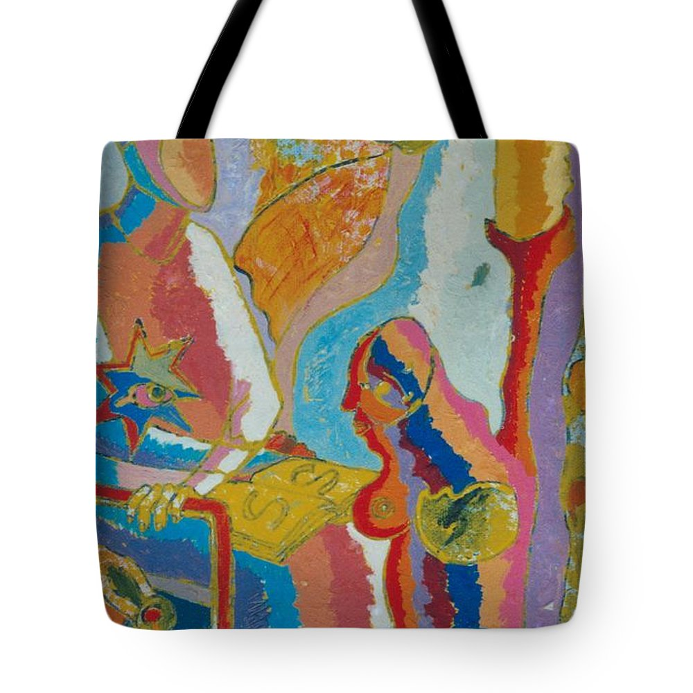 Johnpowellpaintings Tote Bag featuring the painting 72 by John Powell