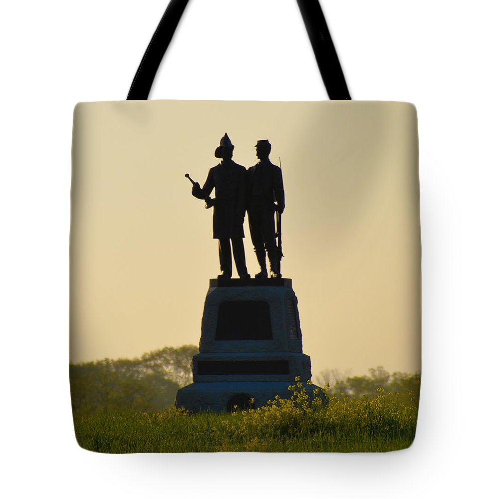 73rd Tote Bag featuring the photograph 73rd Ny Infantry 2nd Fire Zouaves by Bill Cannon
