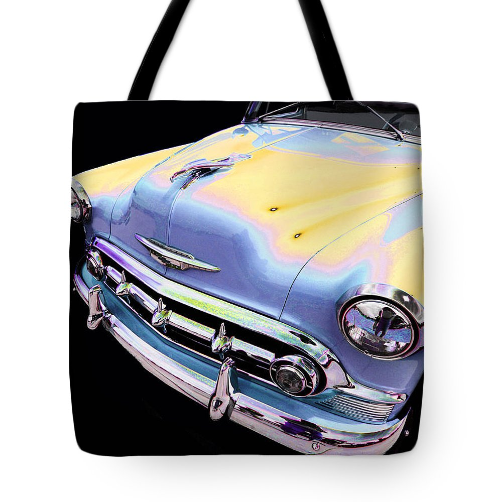 1953 Chevy Tote Bag featuring the photograph Chevy by Allan Price