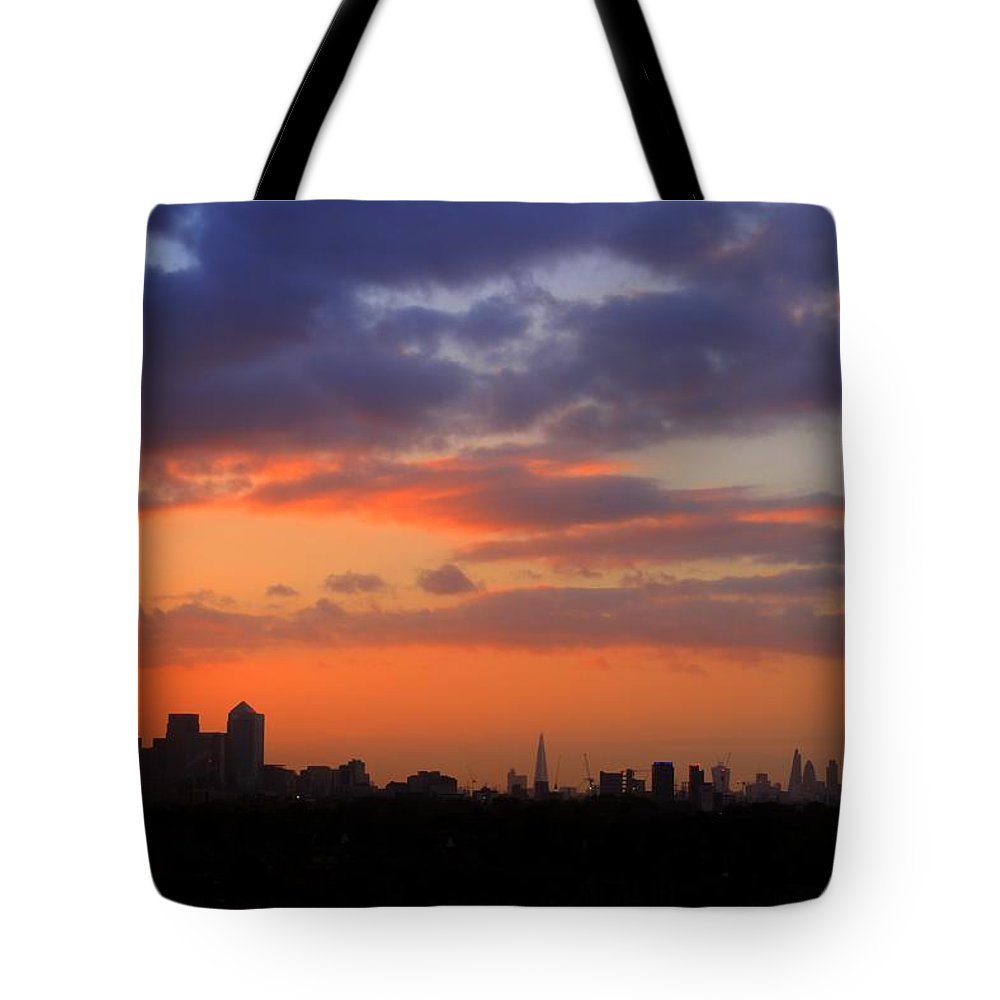 London Skyline Tote Bag featuring the photograph London Skyline by David French
