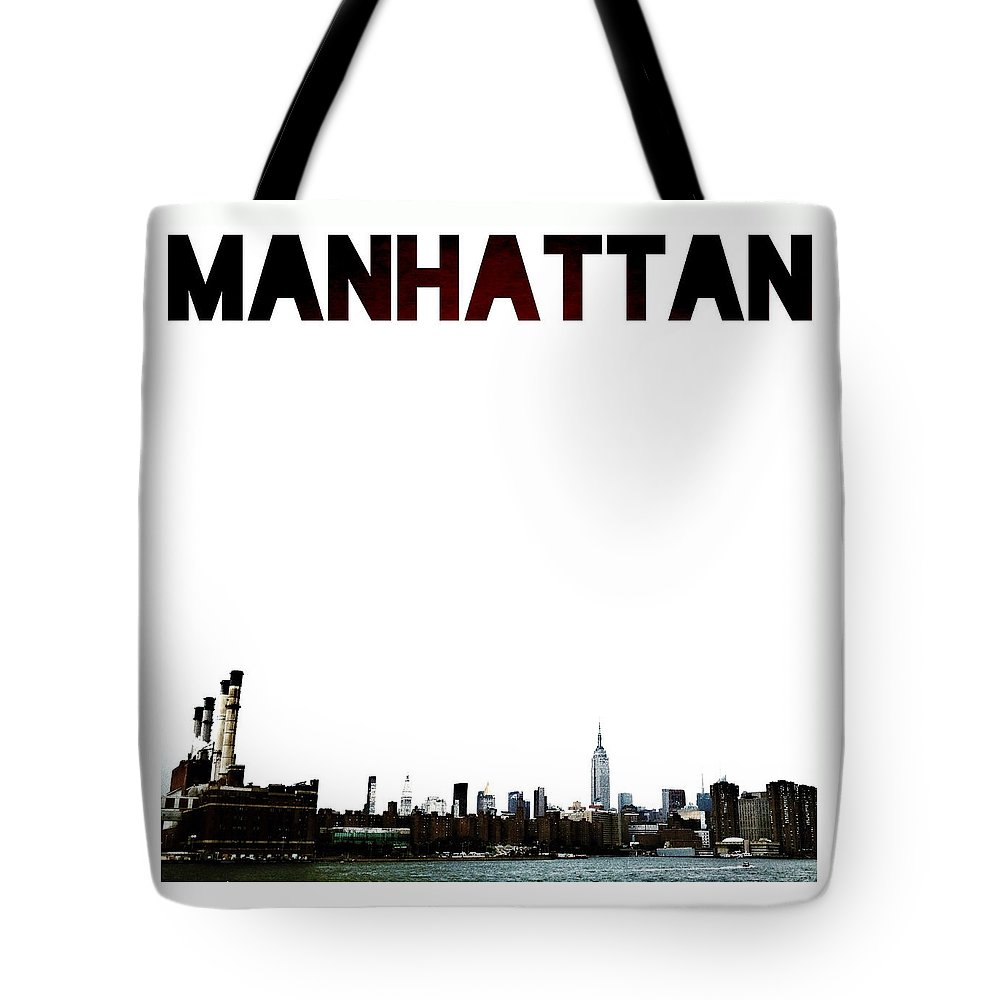 Skyline Tote Bag featuring the photograph Manhattan by Natasha Marco