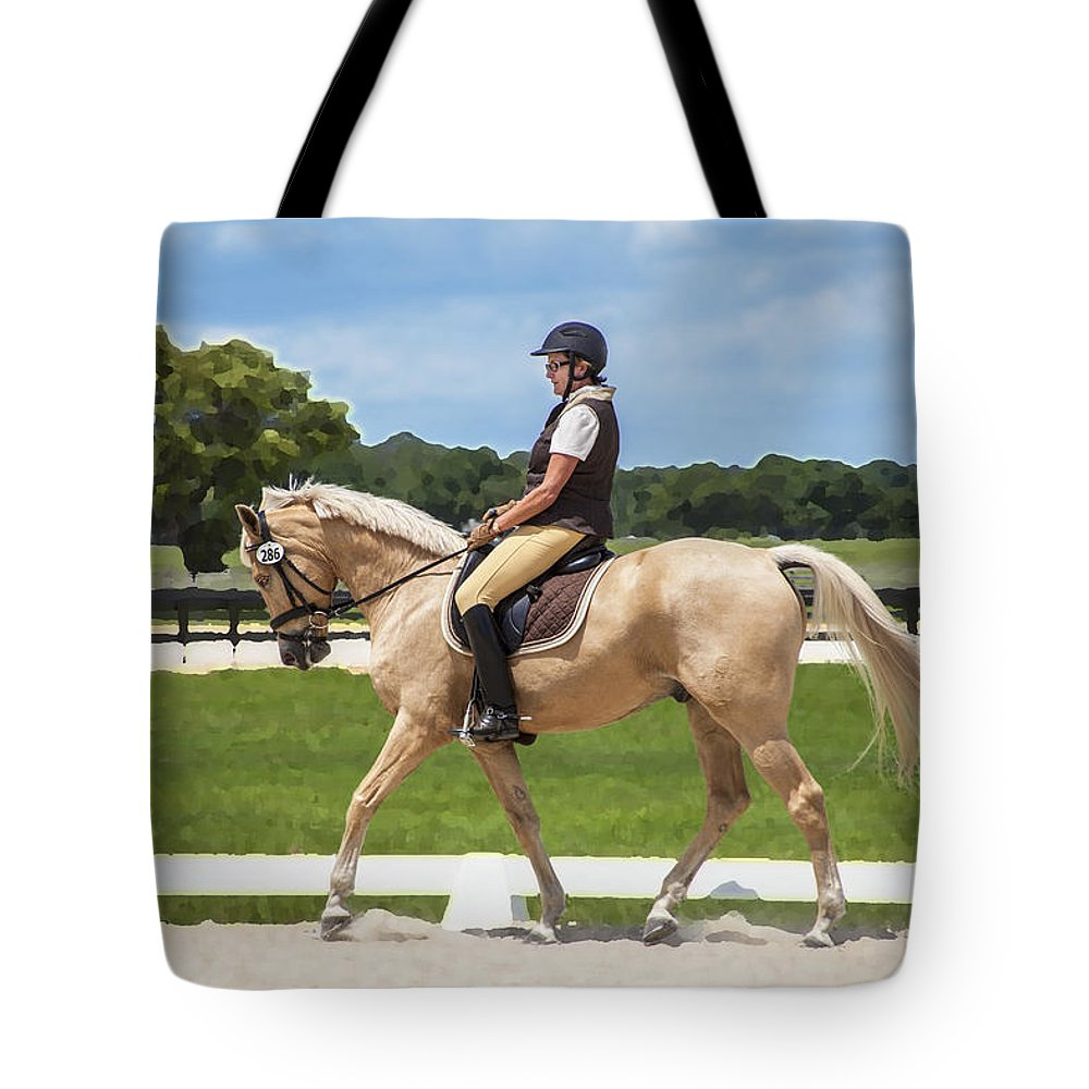 Rocking Horse Stables Tote Bag featuring the photograph Rocking Horse Stables by Rich Franco