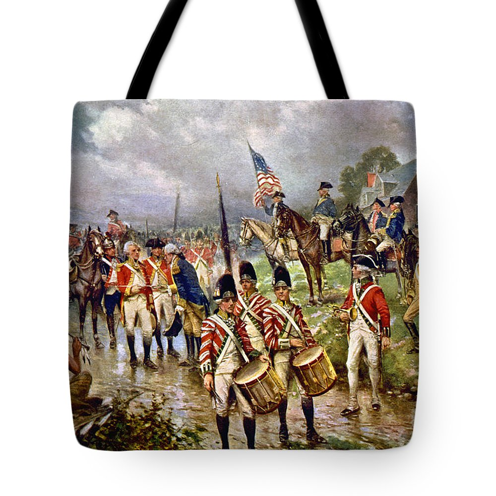 1777 Tote Bag featuring the photograph Saratoga: Surrender, 1777 by Granger