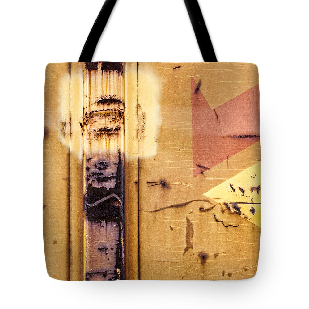 Train Tote Bag featuring the photograph Train Art Abstract by Carol Leigh