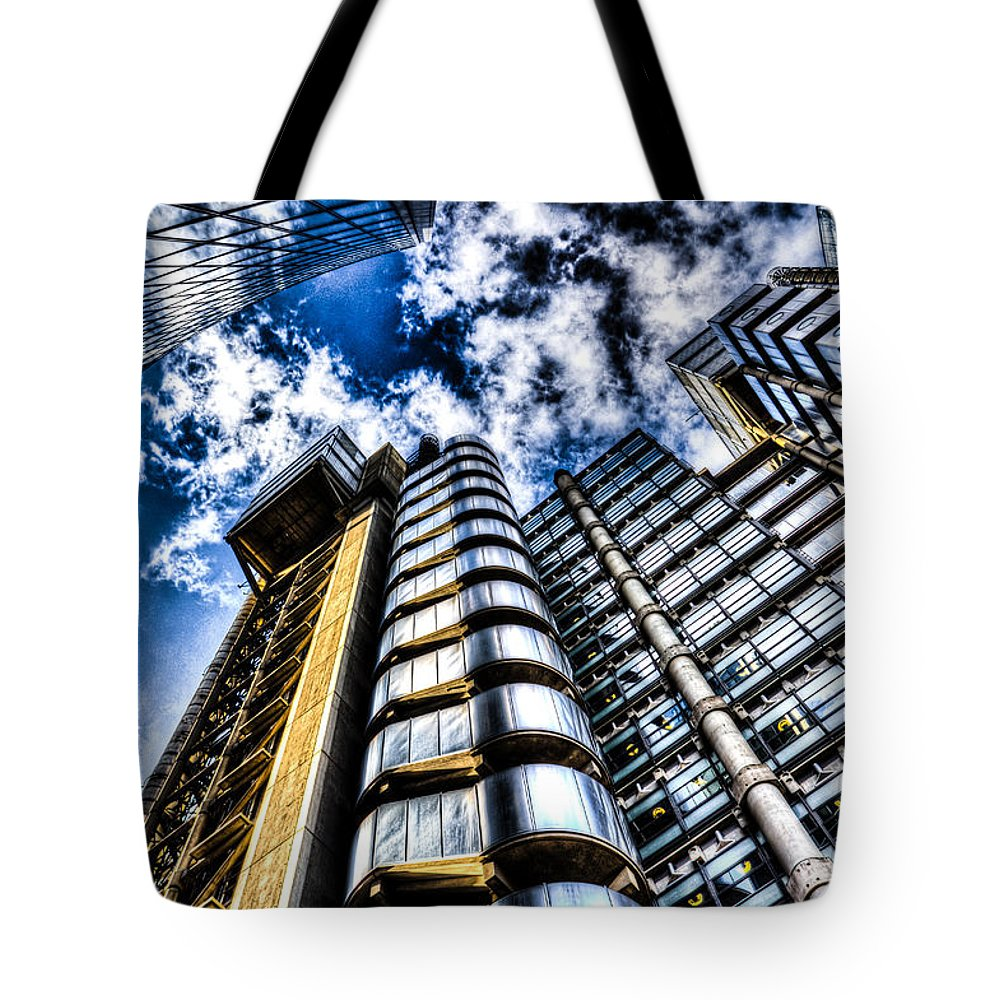 Lloyds Of London Tote Bag featuring the photograph Willis Group And Lloyd's Of London by David Pyatt