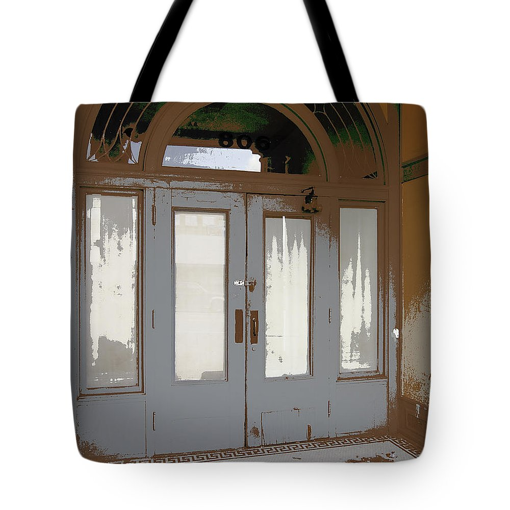 Victorian Tote Bag featuring the photograph 806 North - Out Of The Weather by Daniel Hagerman