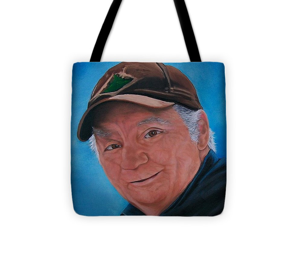 Portrait Tote Bag featuring the painting 88 Yrs. Young by Sharon Duguay