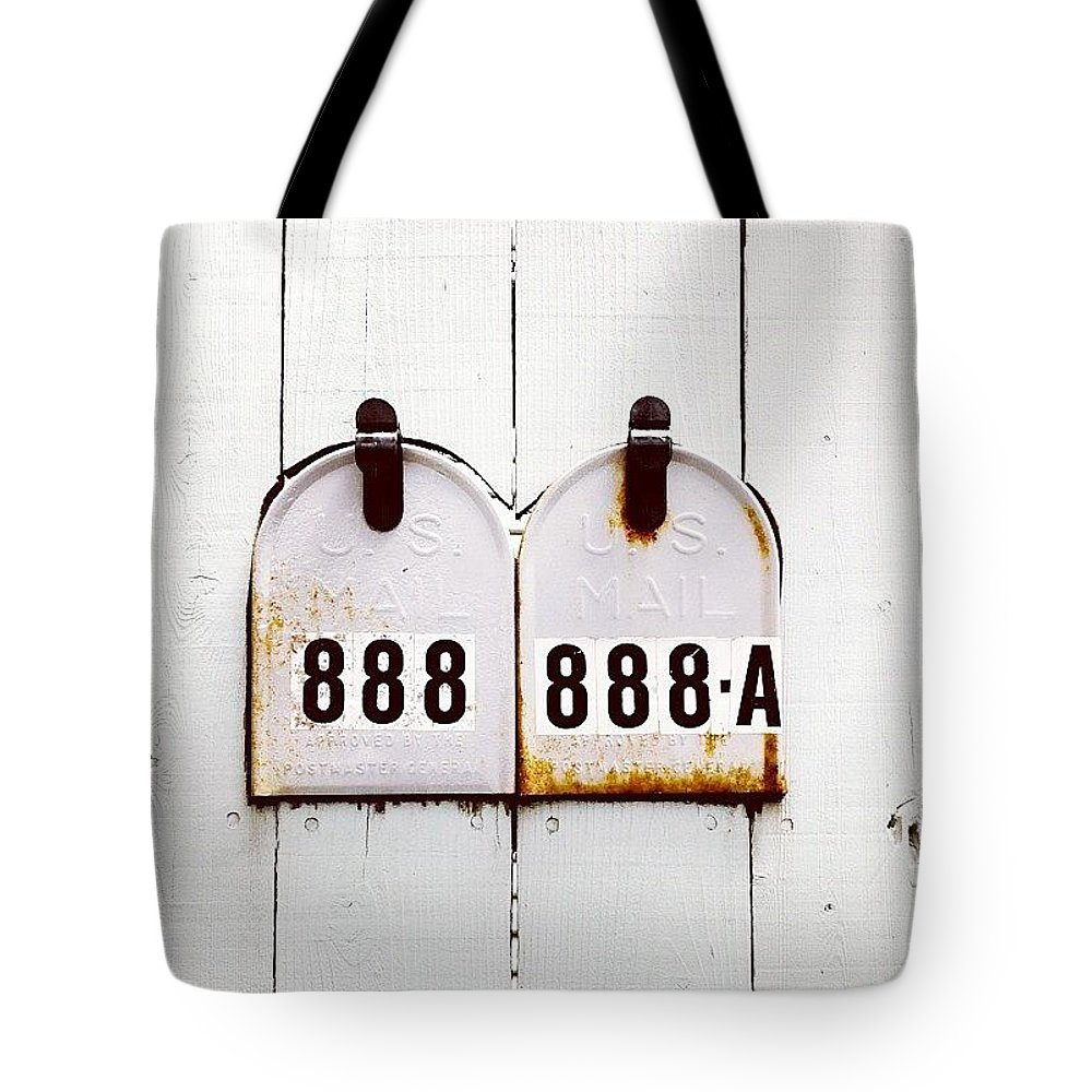 Wallnumbers Tote Bag featuring the photograph 888 by Julie Gebhardt