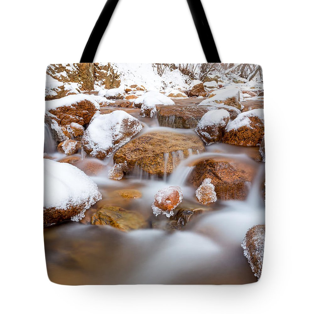 Winter Stream Tote Bag featuring the photograph 9 Degrees by Craig Forhan