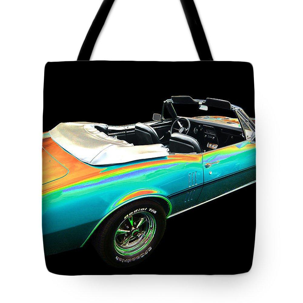 1967 Pontiac Firebird Tote Bag featuring the photograph Pontiac by Allan Price
