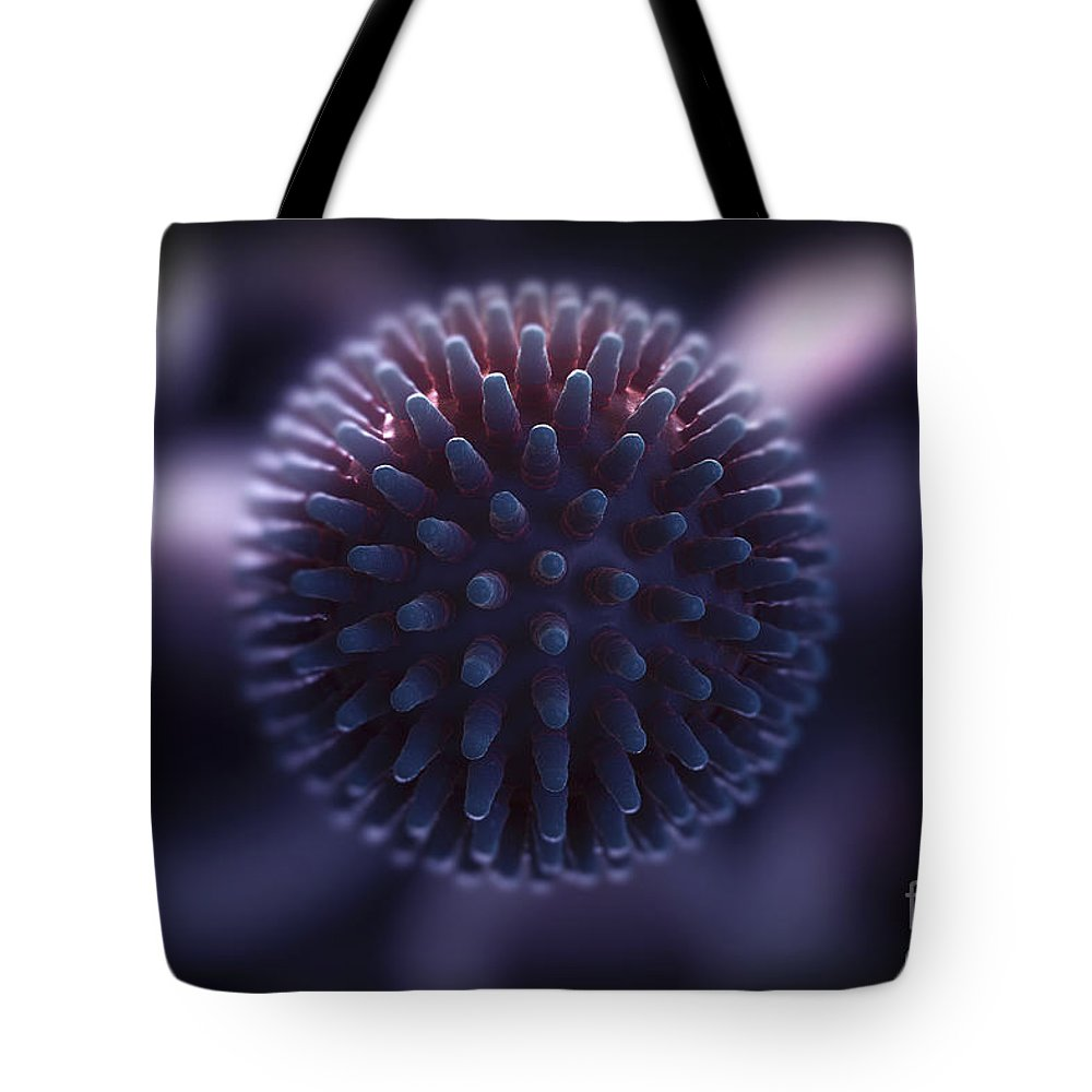 3d Visualisation Tote Bag featuring the photograph Swine Influenza Virus H1n1 by Science Picture Co