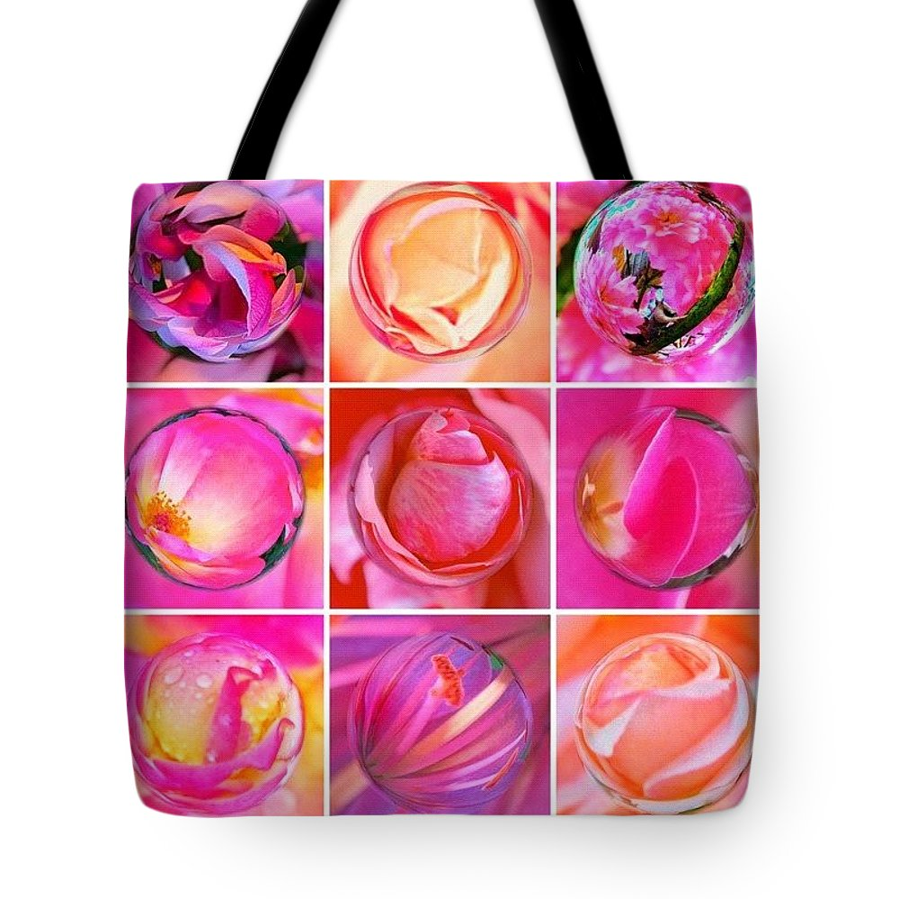 Art Tote Bag featuring the photograph #9pinkribbons Digital Collage For Breast Cancer Awareness by Anna Porter