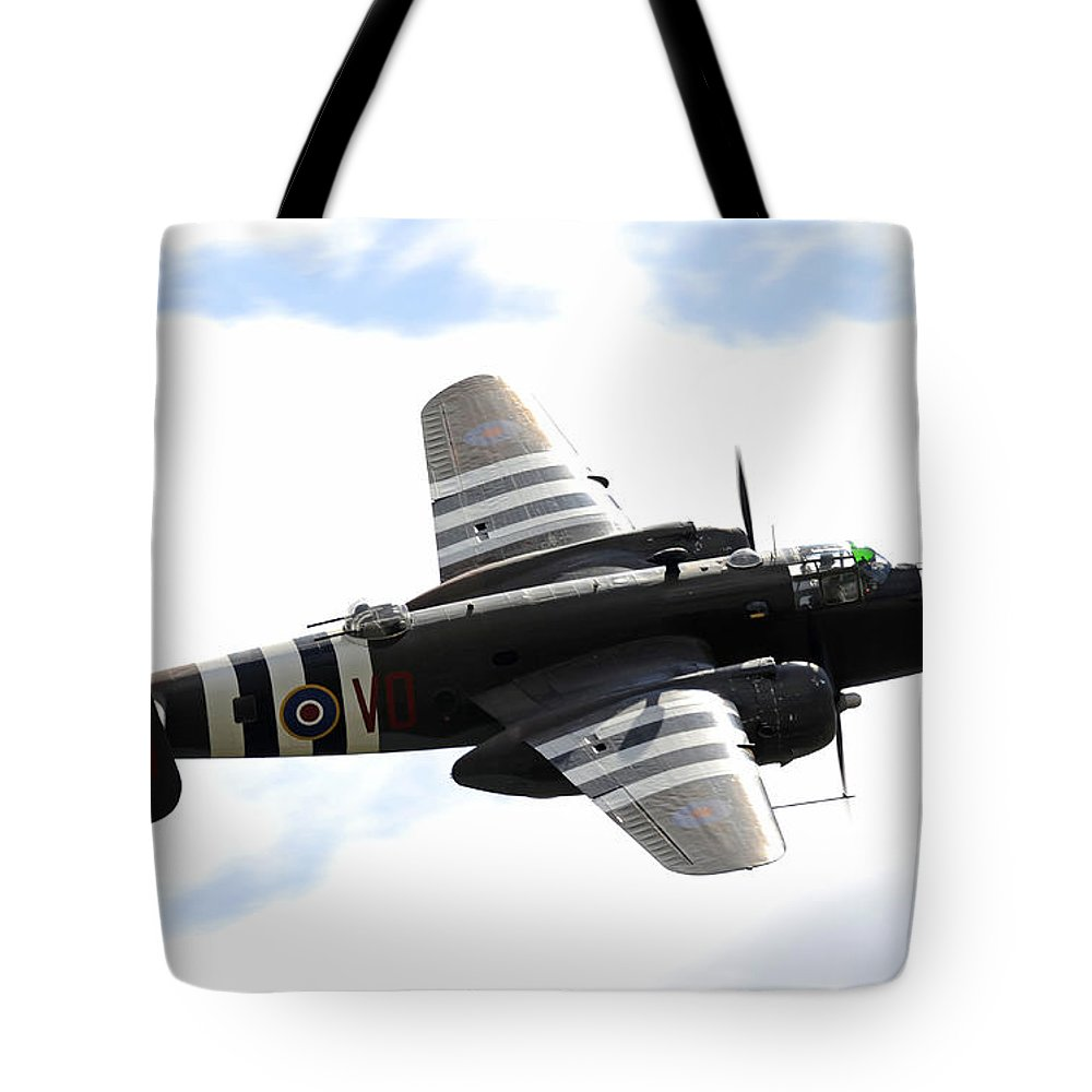 Alaska Tote Bag featuring the photograph A B-25 Mitchell Performs At The Arctic by Stocktrek Images