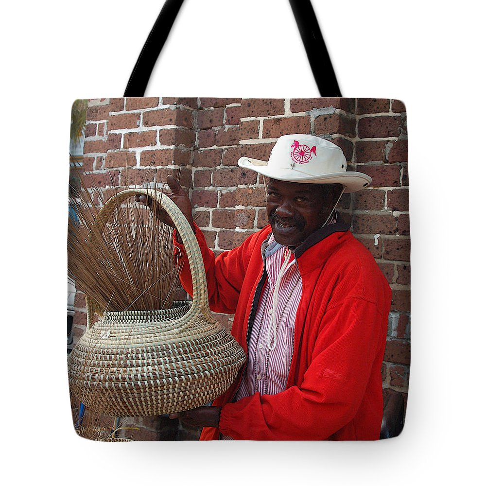 African American Tote Bag featuring the photograph A Basket Case by Suzanne Gaff
