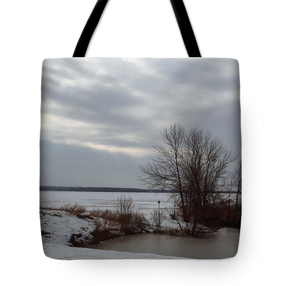 Midwinter Tote Bag featuring the photograph A Bleak Midwinter Day by James Pinkerton