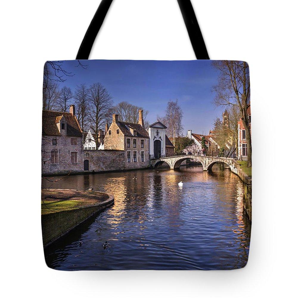 Brugge Tote Bag featuring the photograph Blue Bruges by Carol Japp