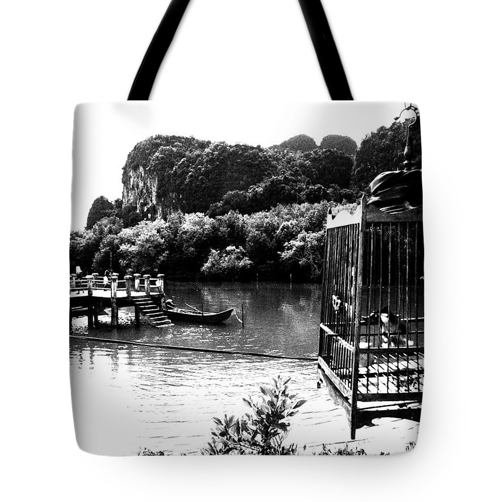 Cage Tote Bag featuring the photograph A Caged Bird's Vista by Kaleidoscopik Photography