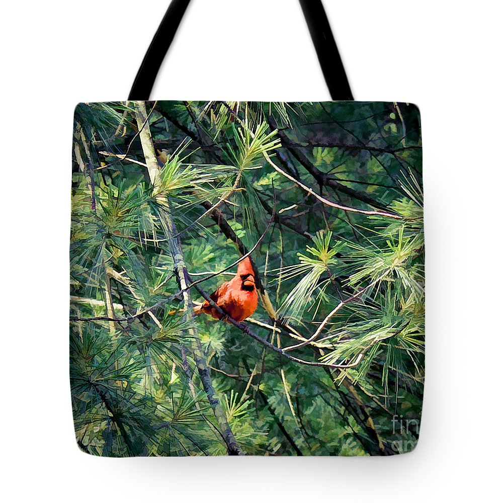 Birds Tote Bag featuring the photograph A Cardinal Rule by Siera Anthony