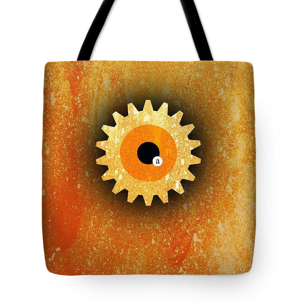 Clockwork Tote Bag featuring the digital art A Clockwork Orange by Filippo B