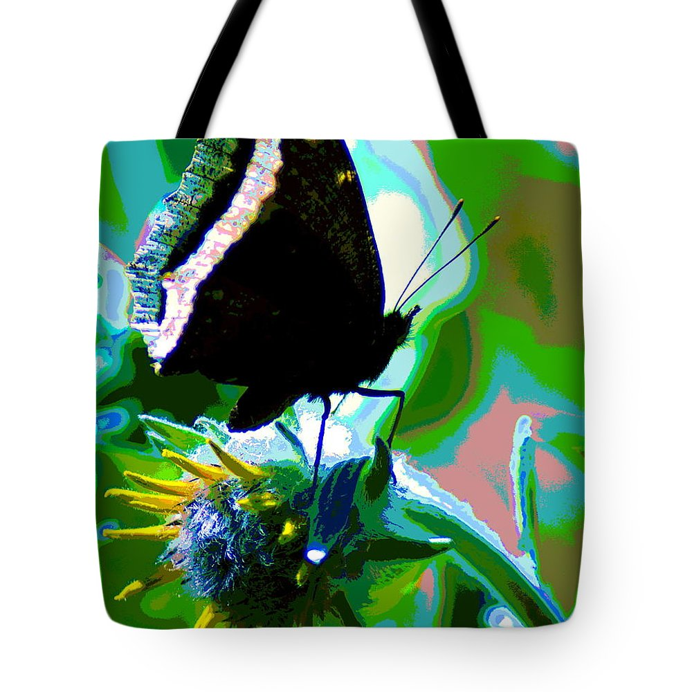 Butterfly Tote Bag featuring the photograph A Cosmic Butterfly by Ben Upham III