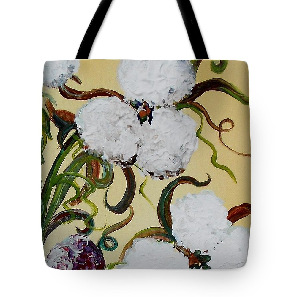 Cotton Tote Bag featuring the painting A Cotton Pickin' Couple by Eloise Schneider Mote