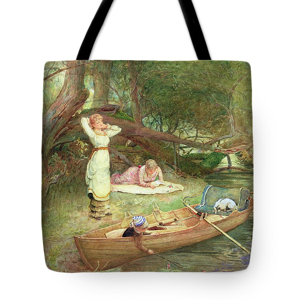 River Tote Bag featuring the painting A Day On The River by John Parker