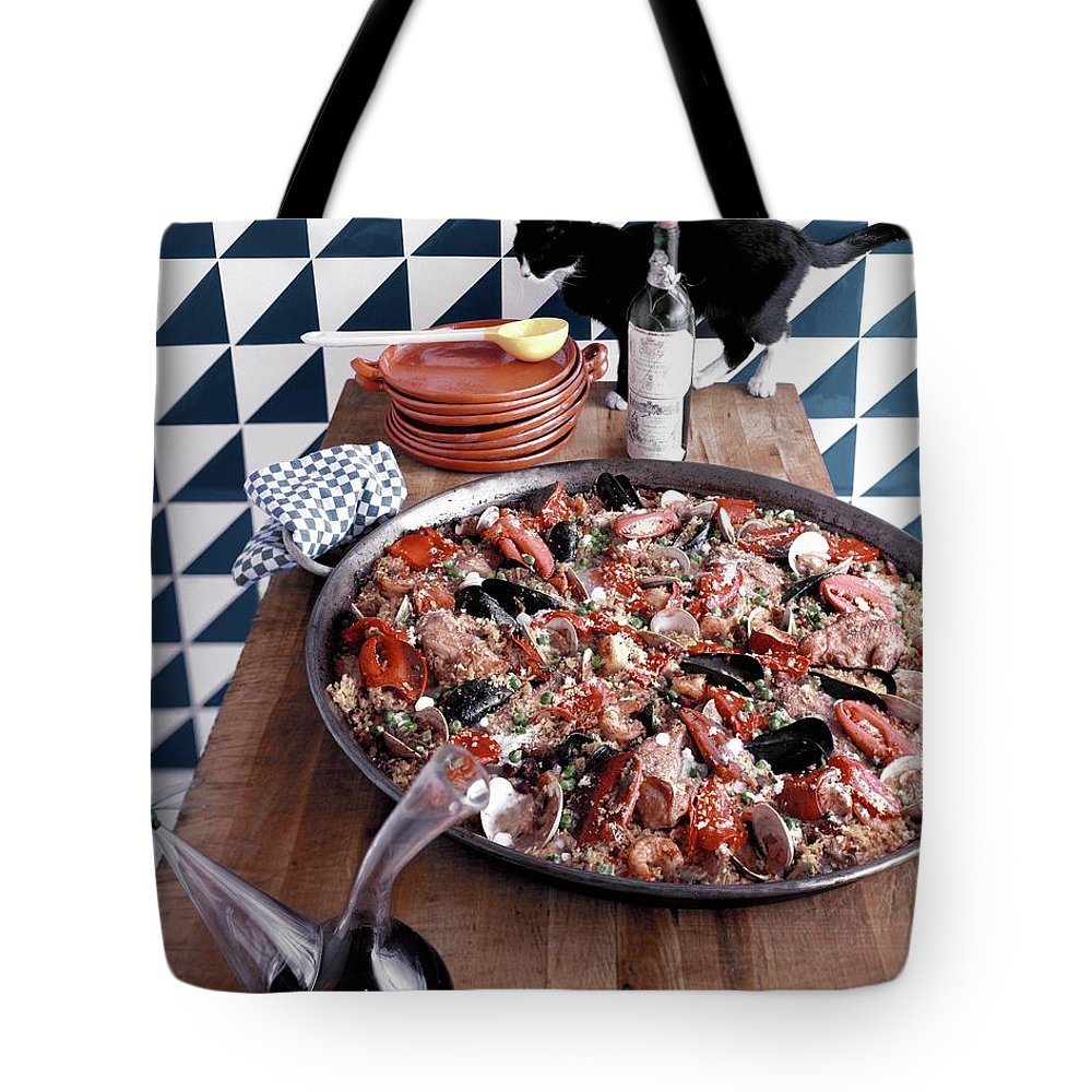 Animal Tote Bag featuring the photograph A Dish Of Paella by Richard Rutledge