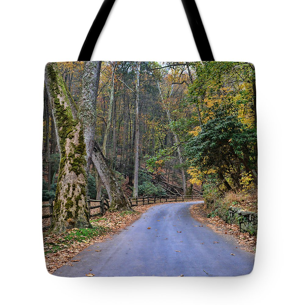 Paul Ward Tote Bag featuring the photograph A Drive In The Country by Paul Ward