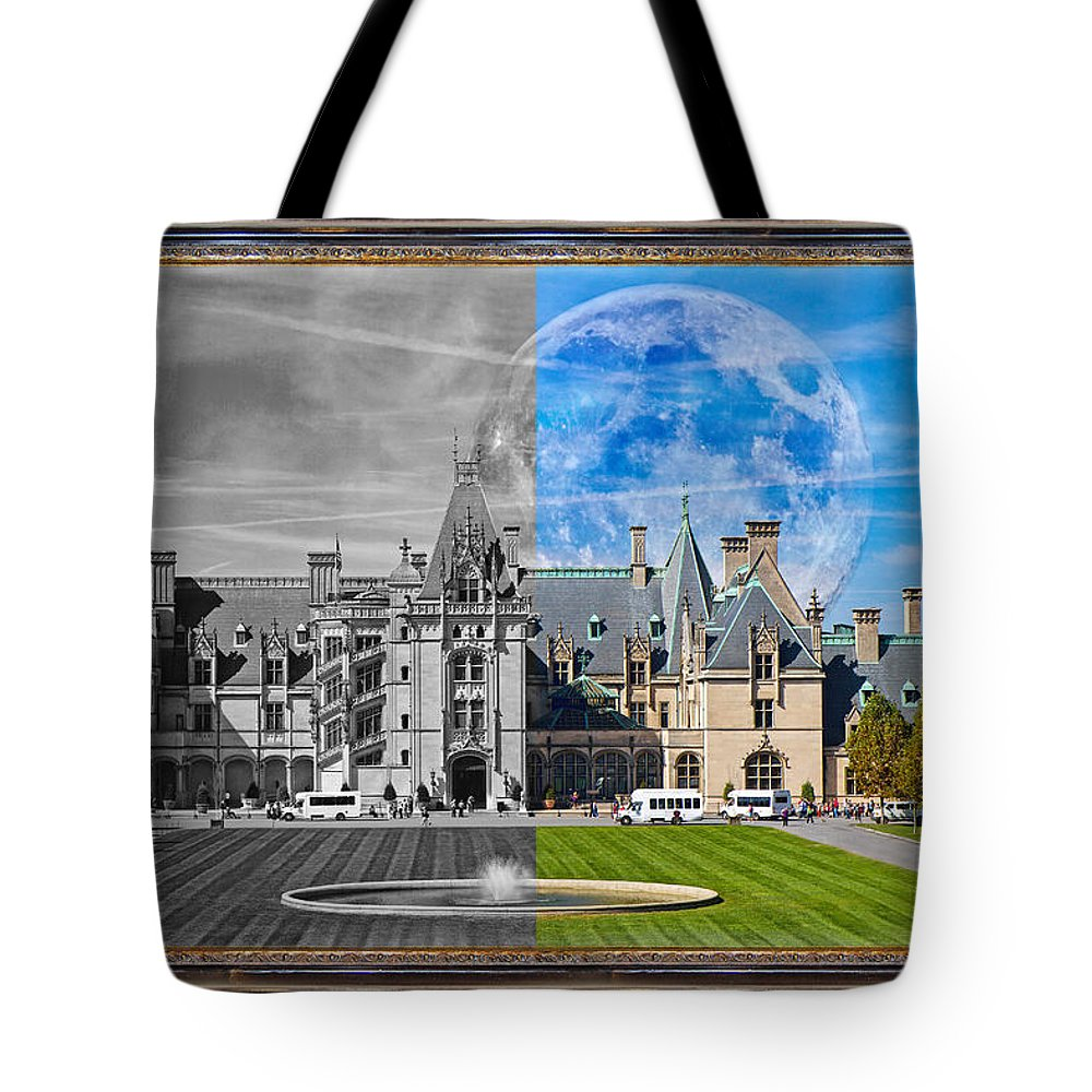 Biltmore Tote Bag featuring the mixed media A Feeling Of Past And Present by Betsy Knapp