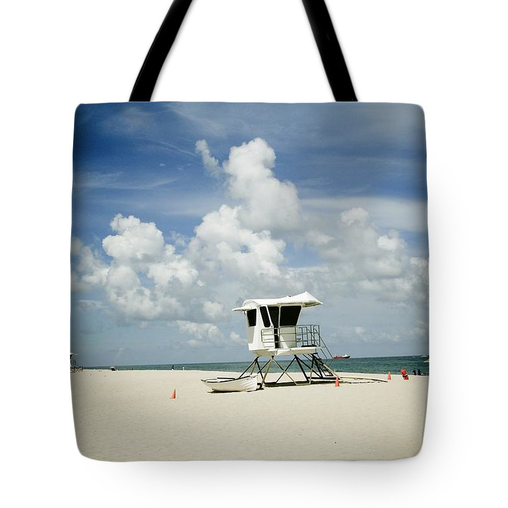 Nina Prommer Tote Bag featuring the photograph A Fine Day At The Beach by Nina Prommer