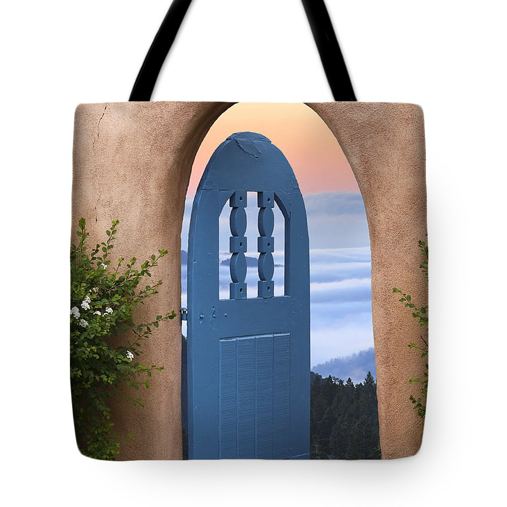 Santa Fe And Taos Tote Bag featuring the photograph A Fine Morning by Greg Wells