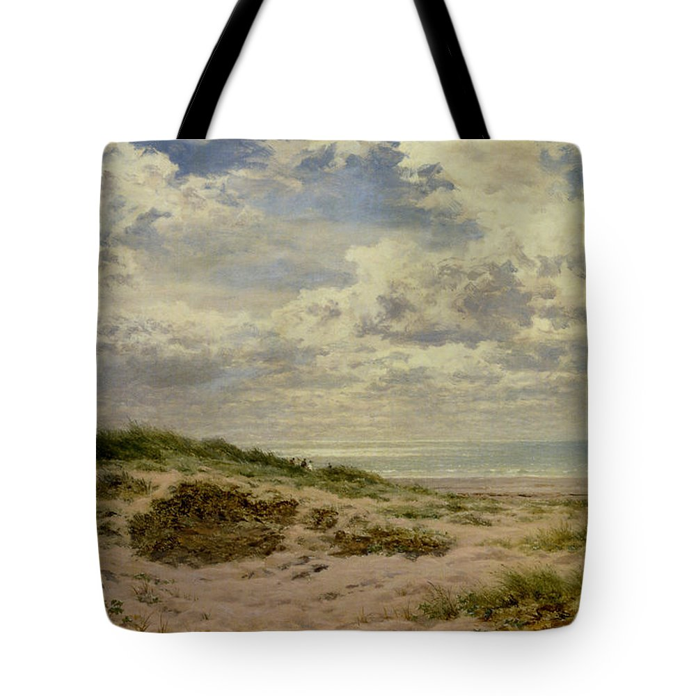 Benjamin Williams Leader Tote Bag featuring the digital art A Fine Morning On The Coast by Benjamin Williams Leader