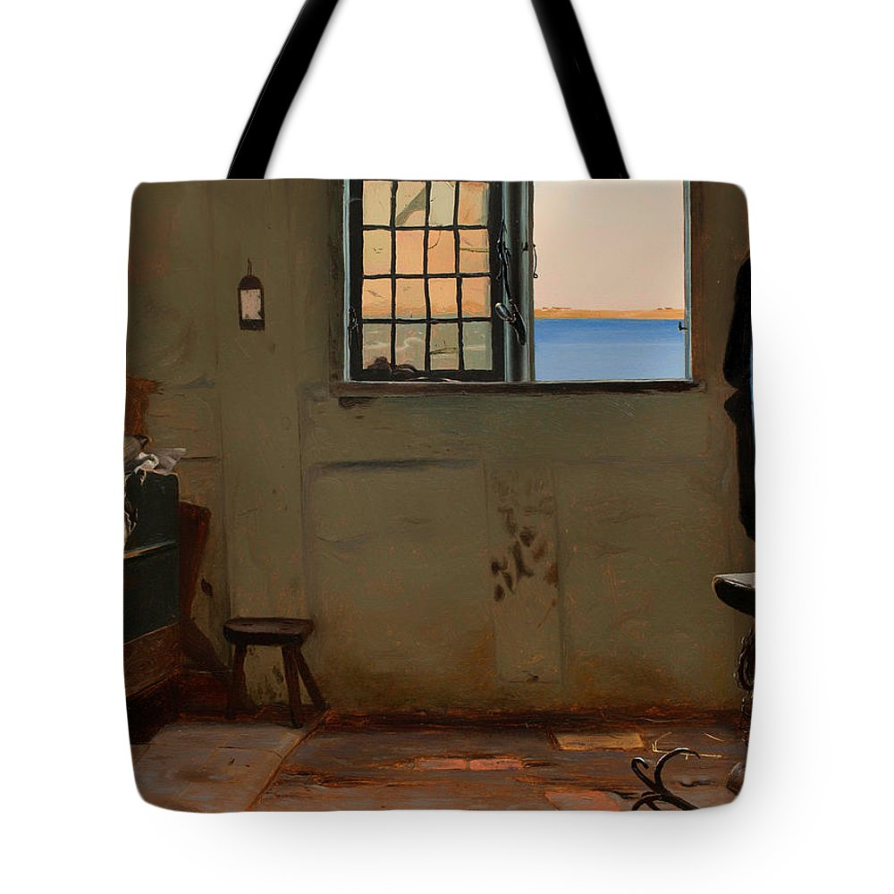 Painting Tote Bag featuring the painting A Fisherman's Bedroom by Mountain Dreams