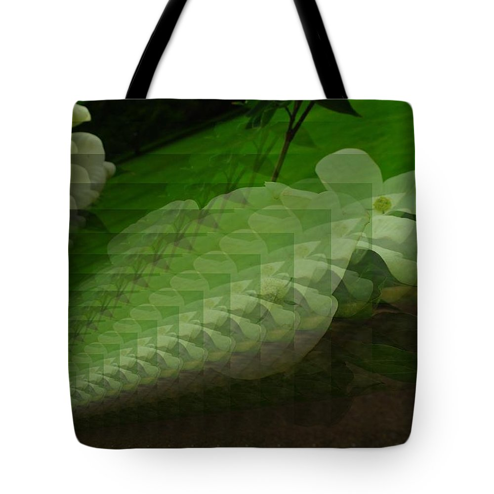 Tote Bag featuring the photograph A Flower Repeating Itself by Jeff Swan