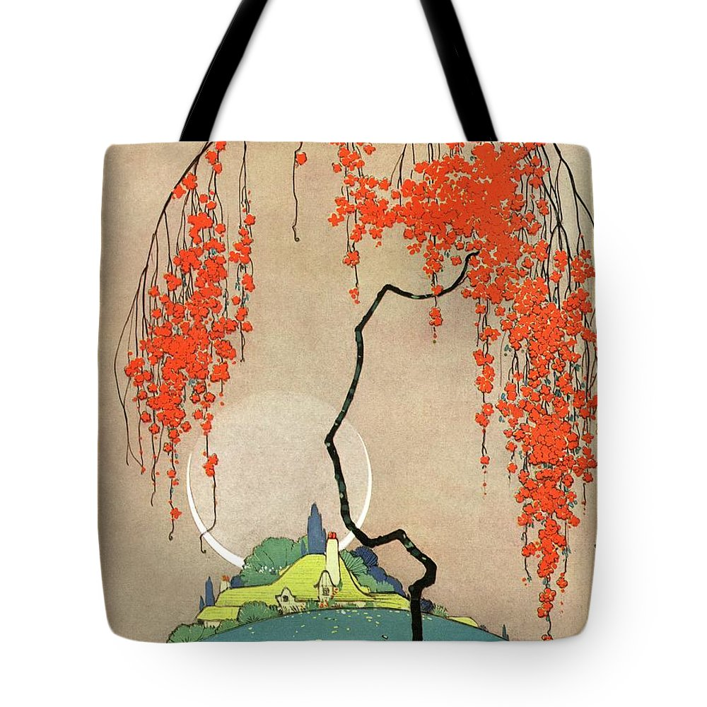 House And Garden Tote Bag featuring the photograph A Flowering Tree by H. George Brandt