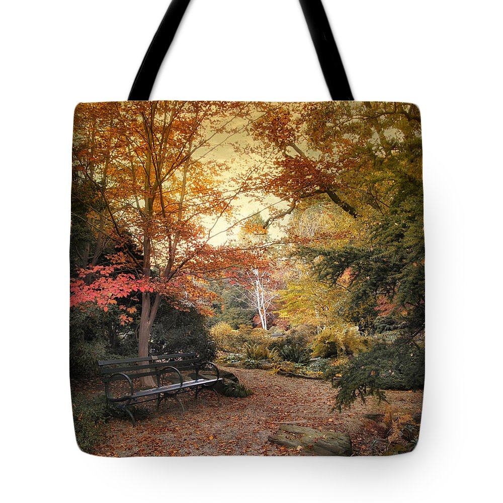 Autumn Tote Bag featuring the photograph A Formal Garden by Jessica Jenney