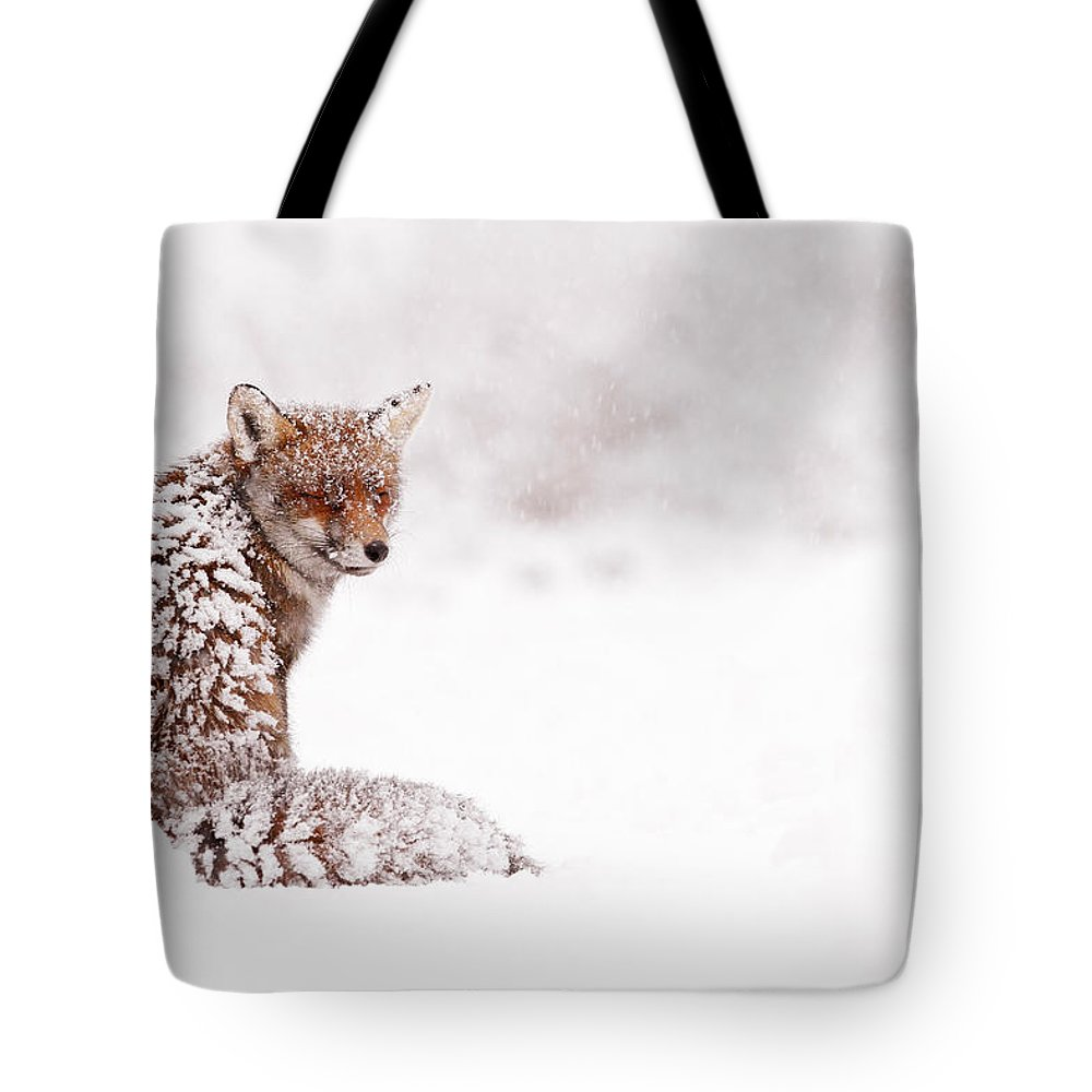 Fox Tote Bag featuring the photograph A Red Fox Fantasy by Roeselien Raimond