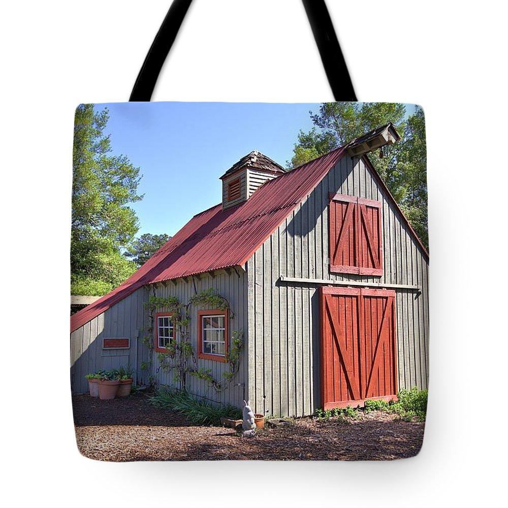8298 Tote Bag featuring the photograph A Garden Barn by Gordon Elwell
